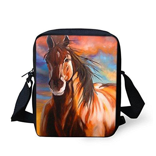Horse for Mini Purse Girl Bag Coin Mini Horse8 Shoulder Funny Women Cross HUGS Bosy IDEA Bags Printed Sling q1xpXXzw