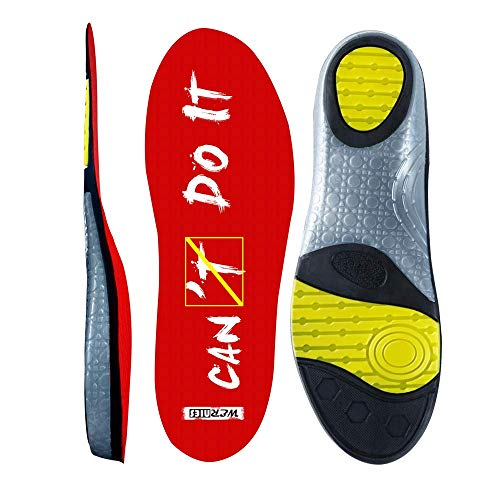 Red Size 8 Running Shoe Insoles for Women Neutral Arch Support Insert Replacement Sports Shoe Inserts for Men Plantar Fasciitis Inserts Flat Feet Insoles for Mens Work Insoles for Men, Sneaker Insert