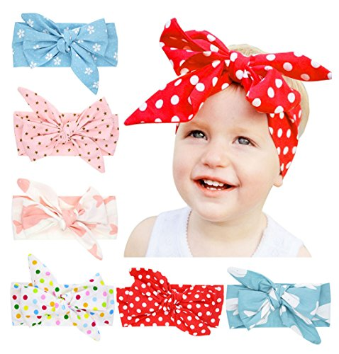 Ms.Gaga Baby Girl Big Bow Head Bands Floral Knotted Hair Accessories - Heads Girls With Big