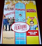 HOT TUB TIME MACHINE + PORKY'S + REVENGE OF THE NERDS DVD Triple Feature Pack (3 Great Comedys Togehter 1 DVD Set)