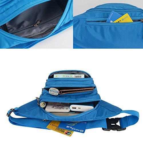 Fanny Pack SINOKAL Waist bag for Men Women Bum Bags Travel Hiking Hip Bum Waist Bag (Grey) by SINOKAL (Image #2)