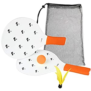 Bdsign Beach Racket Set. Beach Tennis, Beach Toys, Kids Games. Outdoor and Indoor Games. Jazzminton, Goodminton or Badminton for Kids. Camping Games. Backyard Games. Beach Family Games. Lawn Games