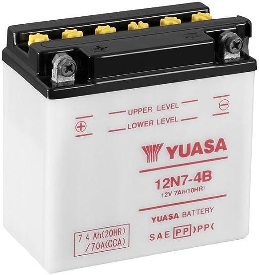 Motorrad Batterie Yuasa 12n7 4b 12v 7ah Maße 137x76x135 Auto