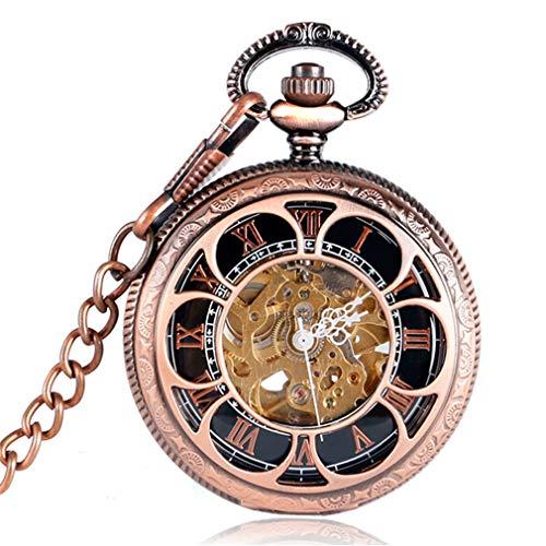- Hollow Antique Flowers Skeleton Cooper Mechanical Hand Wind Pocket Watch Men Carving Fob Clock Steampunk Reloj De Bolsillo Gifts 8