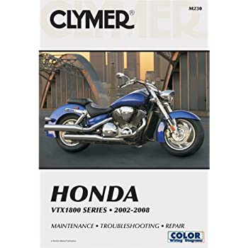 amazon com clymer repair service manual honda vtx1800 02 08 rh amazon com 2005 Honda VTX 1300 Horsepower 2004 honda vtx 1300 service manual pdf