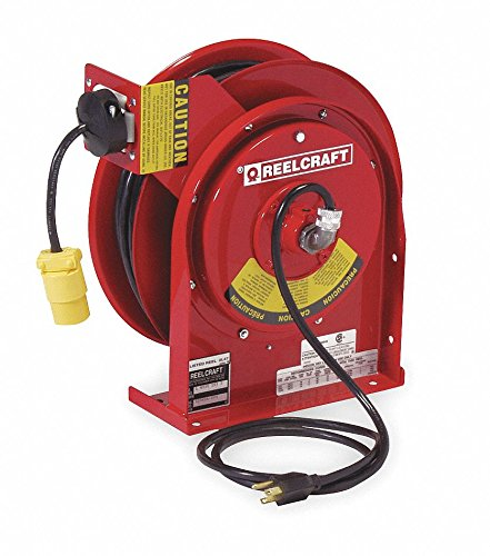 (REELCRAFT Cord Reel 50 ft 16/3 SJTOW Red)