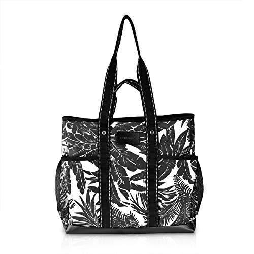 Canvas Tote Bag Utility Teacher Tote Bag Handbag Shoulder work Bag (Wave)