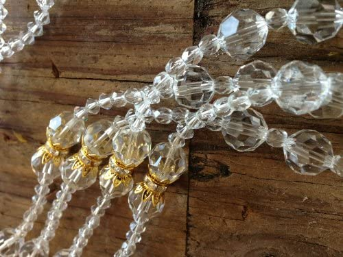 Crystal Wedding Lasso Gold Plated Accents made with 12mm Round Cut Asfout Crystal/Lazo De Boda Crystal Cortado En Oro