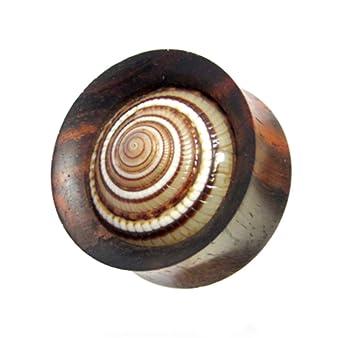 CHIC de Net madera Plug Caracol Reloj de sol caracola túnel unisex joyas pendientes pendientes tallada a mano Talla:04 mm: Amazon.es: Deportes y aire libre