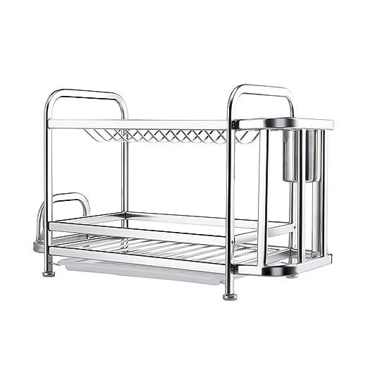 TJZY Armario de cocina de 2 niveles Organizador de estantes ...