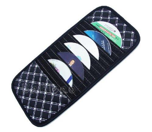 Gaorui Super Car CD DVD Folder/holder 12 Disc Disk Storage Sun Visor Clip Bag Clipper - White Line