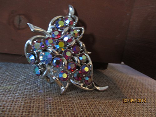 Unique Signed Sarah Coventry Vintage Leaf Pin Brooch, Vintage Coventry Pin