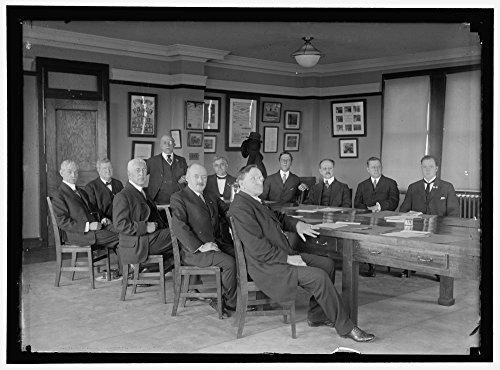 1917 Photo LABOR COMM. OF COUNCIL OF NAT. DEF. HEADS: JAMES O'CONNELL; W.B. WILSON; LEO K. FRANKEL; GOMPERS, CHAIRMAN; LEWIS B. SCHRAM; FRANK MORRISON; H.E. WILLIS; EDWARD EVERETT MACY; E. - Everett Macy's