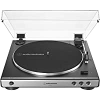 Audio-Technica AT-LP60X-GM Fully Automatic Belt-Drive Stereo Turntable, Gunmetal/Black, Hi-Fi, 2 Speed, Dust Cover, Anti…