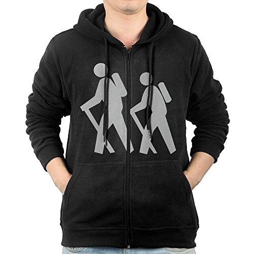 WOXIANJIN Mens Hooded Sweater Pocket Zipper Woman Hiker Icon Hooded Sweatshirt Full Zip Hoodie With Pocket