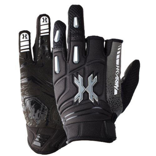 (HK Army 2014 Pro Paintball Gloves - Stealth Black - Large)