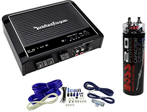 Rockford Fosgate Prime R500X1D 500W RMS Mono Class D Amplifier + Amp Kit + Cap (Fosgate Mono Rockford 500w)