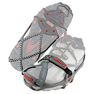 YakTrax Run Traction Cleats for Running on Snow and Ice, Large