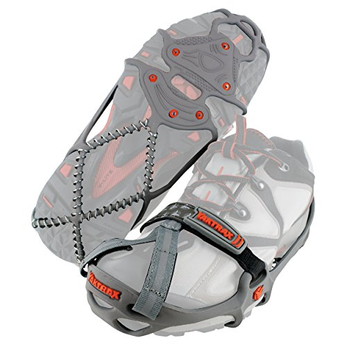 Yaktrax Run Traction Cleats for Running on Snow and Ice (1 Pair), Medium