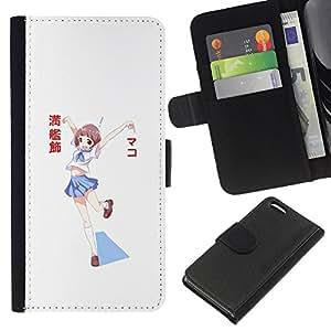 All Phone Most Case / Oferta Especial Cáscara Funda de cuero Monedero Cubierta de proteccion Caso / Wallet Case for Apple Iphone 5C // Cute Japanese Cartoon Girl in Uniform