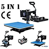 TC-Home Heat Press 5 in 1 Multifunction Sublimation Heat Press Machine Digital Transfer