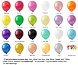 Elecrainbow 100 Pack 12 Inch 3.2 g/pc Thicken Round Pearlescent Latex Black Balloons for Party Decorations, Black