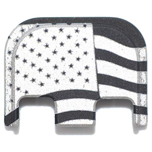 Waving USA American Flag Rear Slide Back Plate Engraved for GLOCK