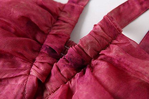 Mulberry Maxi Beach Silk Wine CDCLOTH Dress Backless Sling Dress Summer Silk Red Women's 6BqFawY