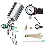 1.4mm 600cc HVLP Gravity Feed Spray Gun Kit Auto Paint Primer Metal Flake with Regulator