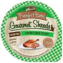 Merrick Purrfect Bistro Gourmet Shreds Savory Duck Recipe Grain Free Wet Cat Food, Case of 12, 3.5 oz.
