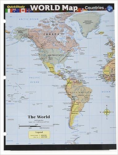 Study World Map.World Map Countries Quick Study Barcharts Inc 9781423231172