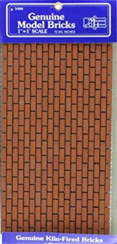 Dollhouse Miniature Mesh Sheet of Common Brick Brick Mesh