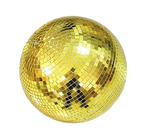 Glass Stage (6 Inch Glass Mirror Ball For Bar Stage DJ Party Light, Gold)