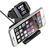 GOSETH for Fitbit Ionic Charger, Fitbit Ionic Charging Stand Accessories,Fitbit Ionic Replacement Charger Charging Dock Station Cradle Holder for Fitbit Ionic Smart Watch with Stand for Phone Tablet