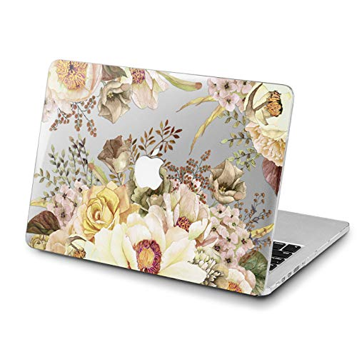 Lex Altern MacBook Pro 15 inch Case 2018 Wildflowers Mac Air 13 2017 A1990 A1707 Retina 12 White Cover Roses Hard 11 Floral Pattern Apple Clear 2016 Laptop Protective Girly Print 2015 Touch Bar Women -