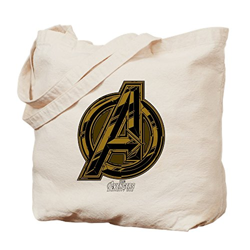 CafePress Avengers Infinity War Symbol Natural Canvas Tote Bag, Cloth Shopping -