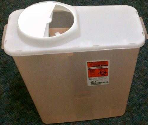 Kendall Sharps Container with Rotor Lid - 3 Gallon by kendall (Image #1)