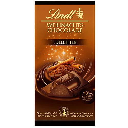 Christmas Bittersweet Chocolate 70% Cocoa 100g (3.5oz) - Lindt Bittersweet Chocolate
