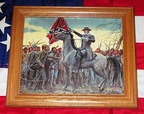 Framed Civil War Painting. Mort Kunstler, LAST RALLY.Robert E Lee - Civil War Paintings