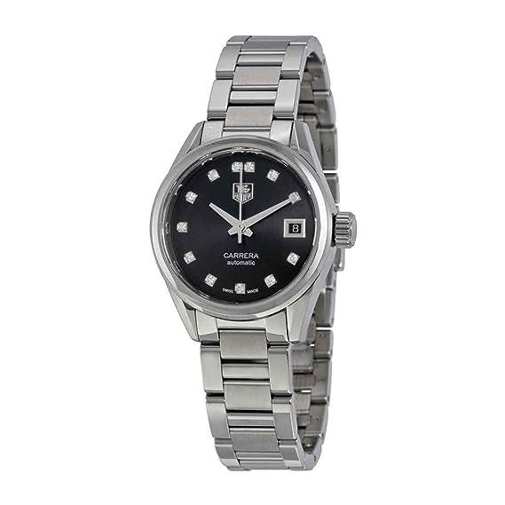 TAG Heuer para mujer carrera calibre 9 reloj automático diamante Dial diamante bisel 28 mm war2413. ba0776: Amazon.es: Relojes