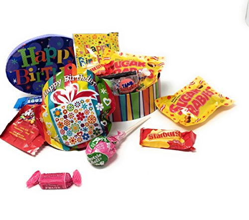 Happy Birthday Mini Celebration Gift Boxes ~ Fun Treat Filled Decorated Nesting Boxes (Oval)