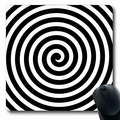 - Ahawoso Mousepads Swirl Hypnotic Spiral Black White Hypnosis Abstract Circle Optical Circular Vertigo Vortex Design Oblong Shape 7.9 x 9.5 Inches Non-Slip Gaming Mouse Pad Rubber Oblong Mat