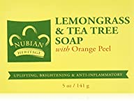 Nubian Heritage Soap Bar, Lemongrass and Tea Tree, 5 Ounce