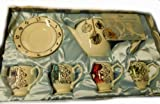 Original Tea Set from Alice in the Wonderland behind the mirrors disney