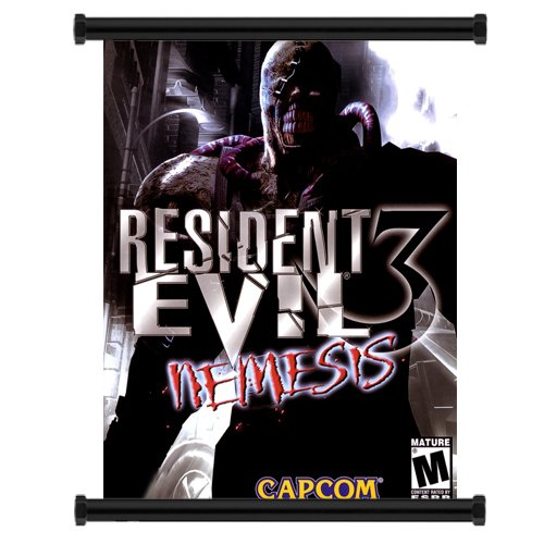 Resident Evil 3 Nemesis Game Fabric Wall Scroll Poster  Inch