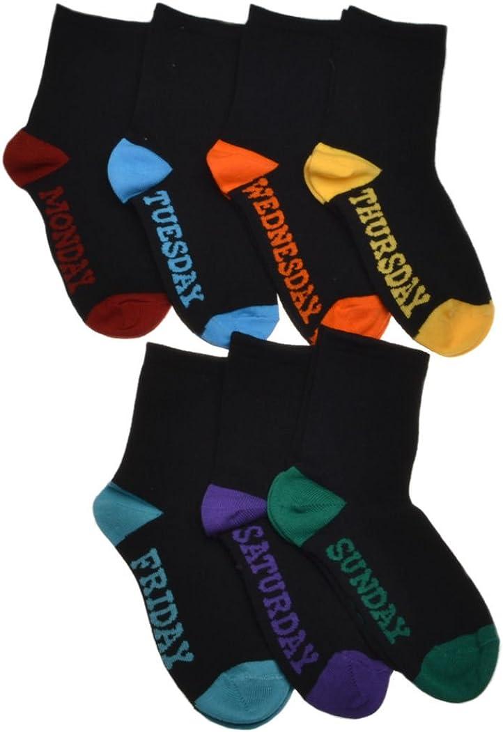 Days of the Week boys socks Black 7 pairs per pack