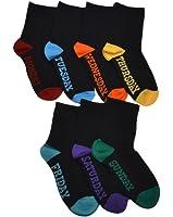 7 Paires de Chaussettes Enfant - Jours de La Semaine - Chaussettes Noires