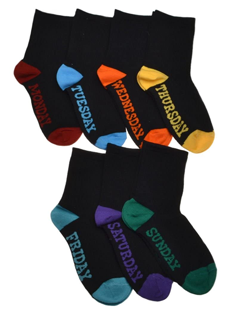 7 Pairs of Children's Days of the Week socks - Age 4-5 Years W Brewin