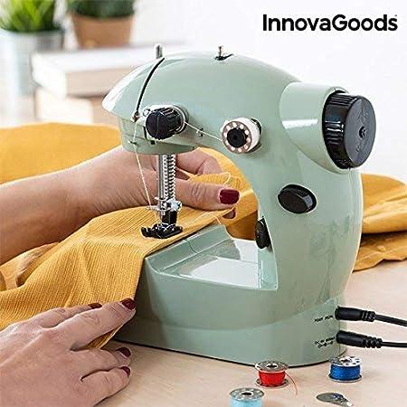 Innovagoods Máquina De Coser Mini 6 V 800 Ma, Verde, Talla Unica: Amazon.es: Hogar