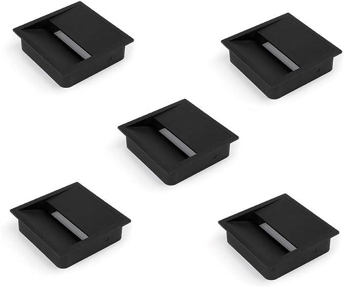 Emuca - Tapa pasacables rectangular 152x61mm para encastrar en ...
